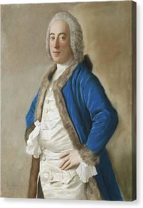 Portrait Of Joseph Bouer - Merchant Of Genoa Canvas Print by Jean-Etienne Liotard