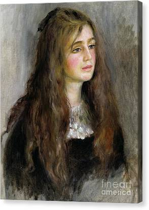 Portrait Of Julie Manet  Canvas Print by Pierre Auguste Renoir