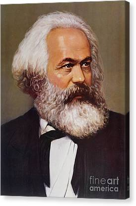 Communism Canvas Print - Portrait Of Karl Marx by Unknown