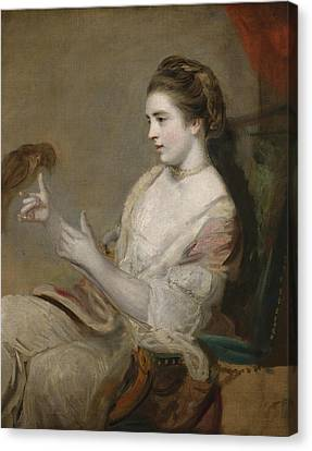 Portrait Of Kitty Fisher Canvas Print by Joshua Reynolds