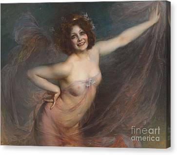 Erotic Dancer Canvas Print - Portrait Of Loie Fuller by Felix Hippolyte-Lucas