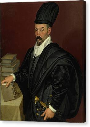 Portrait Of Lope Varona Di Villanahue Of Burgos Canvas Print