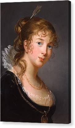 Portrait Of Louisa Princess Radziwill  Canvas Print by Elisabeth Louise Vigee-Lebrun