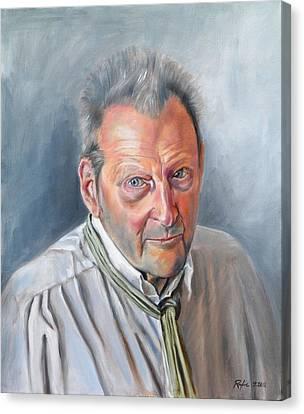Portrait Of Lucian Freud Canvas Print