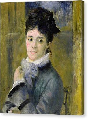 Portrait Of Madame Claude Monet Canvas Print by Renoir