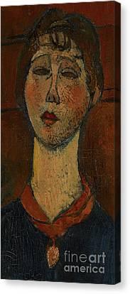 Clemente Canvas Print - Portrait Of Madame Dorival by Amedeo Modigliani