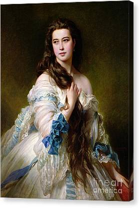 Portrait Of Madame Rimsky Korsakov Canvas Print by Franz Xaver Winterhalter