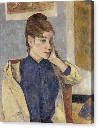 Portrait Of Madeleine Bernard Canvas Print by Paul Gauguin