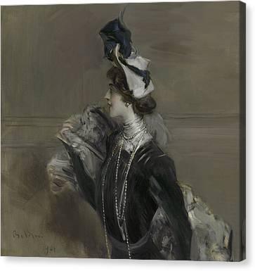 Portrait Of Mademoiselle Lina Cavalieri Canvas Print