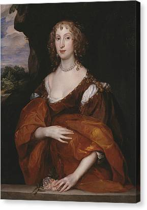 Portrait Of Mary Hill, Lady Killigrew Canvas Print by Anthony van Dyck