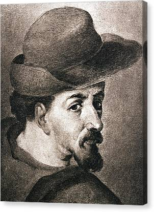 Portrait Of Miguel Saavedra De Canvas Print