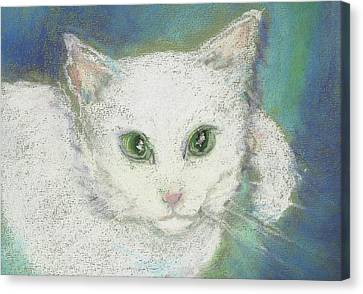 Canvas Print featuring the drawing Portrait Of Misty by Denise Fulmer