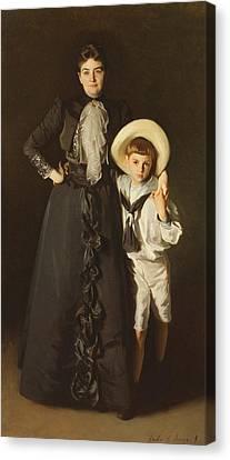 Portrait Of Mrs Edward L Davis And Her Son, Livingston Davis, 1890 Canvas Print