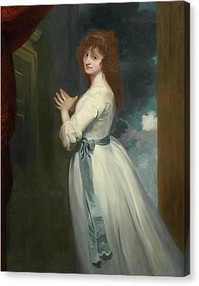 Portrait Of Mrs Jordan As Peggy Canvas Print by MotionAge Designs