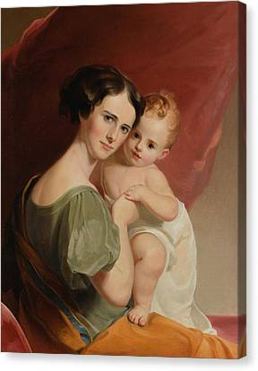 Portrait Of Mrs Canvas Print