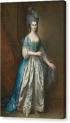 Portrait Of Mrs William Villebois Canvas Print by Thomas Gainsborough