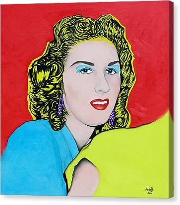 Portrait Of My Mother Canvas Print by Joe Michelli