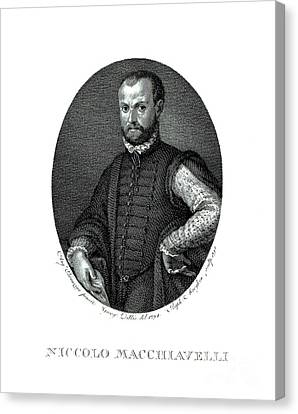 Portrait Of Niccolo Machiavelli  Canvas Print