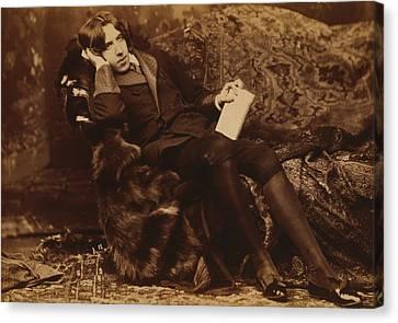 Famous Literature Canvas Print - Portrait Of Oscar Wilde by Sarony Napoleon