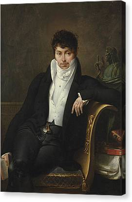 Portrait Of Pierre-jean-george Cabanis Canvas Print by Merry-Joseph Blondel