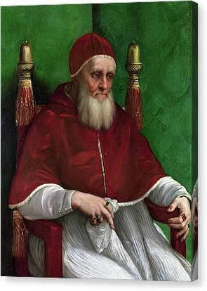 Portrait Of Pope Julius II - 1511 Canvas Print by Raphael
