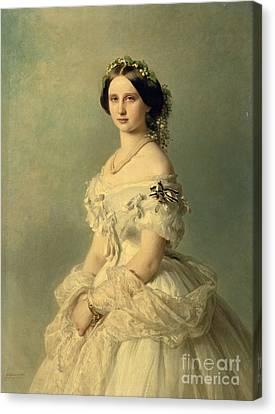 Victorian Canvas Print - Portrait Of Princess Of Baden by Franz Xaver Winterhalter