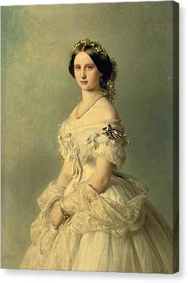 Portrait Of Princess Of Baden Canvas Print by Franz Xaver Winterhalter