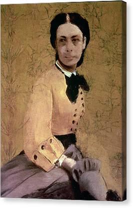 Portrait Of Princess Pauline De Metternich Canvas Print by Edgar Degas