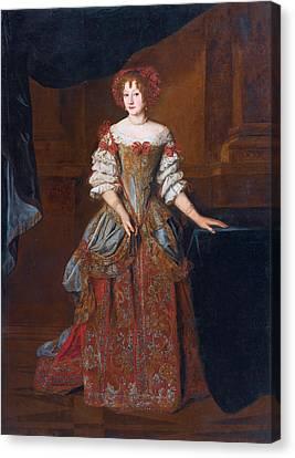 Portrait Of Princess Teresa Pamphili Cybo Canvas Print by Jacob Ferdinand Voet