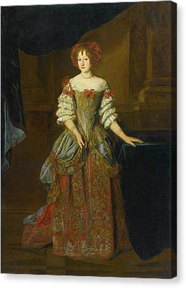 Portrait Of Princess Teresa Pamphilj Cybo Canvas Print by MotionAge Designs