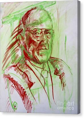 Portrait Of Prof Joshua Lederberg Canvas Print