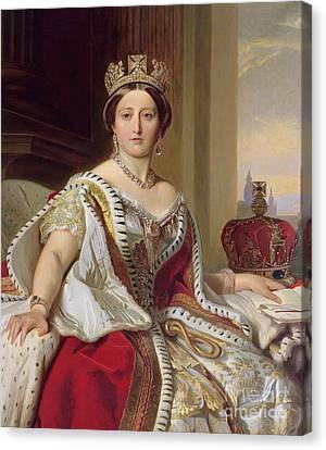 Background Canvas Print - Portrait Of Queen Victoria by Franz Xavier Winterhalter