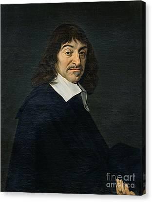 Portrait Of Rene Descartes Canvas Print by Frans Hals