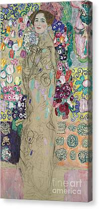 Portrait Of Ria Munk IIi Canvas Print by Gustav Klimt