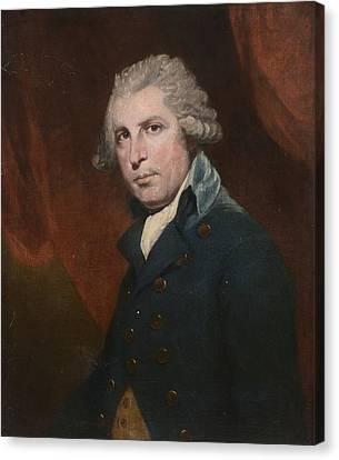 Portrait Of Richard Brinsley Canvas Print by Joshua Reynolds