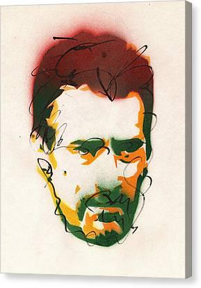 Portrait Of Robert Deniro Canvas Print by Ryan  Hopkins