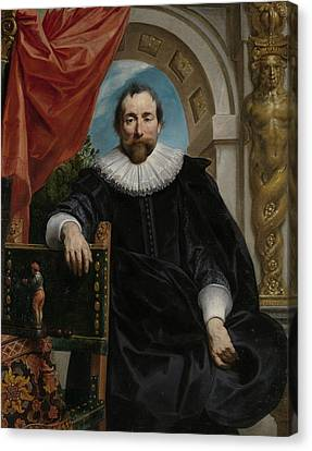 Portrait Of Rogier Le Witer Canvas Print by Jacob Jordaens