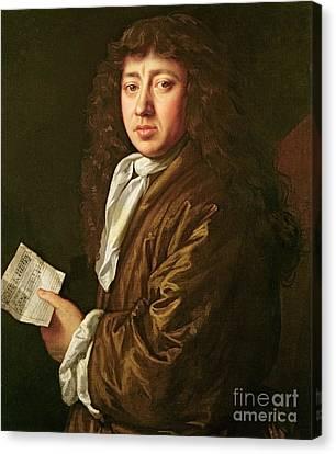 Portrait Of Samuel Pepys Canvas Print by John Hayls