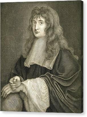 Half-length Canvas Print - Portrait Of Sir Isaac Newton by Sir Peter Lely
