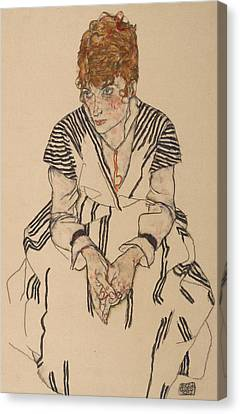 Expressionism Canvas Print - Portrait Of The Artist's Sister-in-law, Adele Harms by Egon Schiele