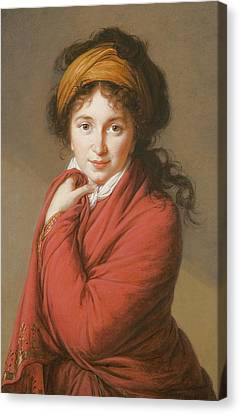 Hairstyle Canvas Print - Portrait Of The Countess Nikolai Nikolaevich Golovin by Elisabeth Louise Vigee-Lebrun