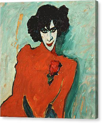 Portrait Of The Dancer Aleksandr Sakharov Canvas Print by Alexej von Jawlensky