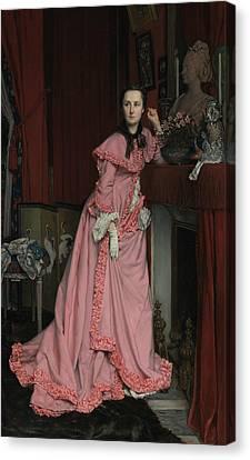 Portrait Of The Marquise De Miramon Canvas Print by James Tissot