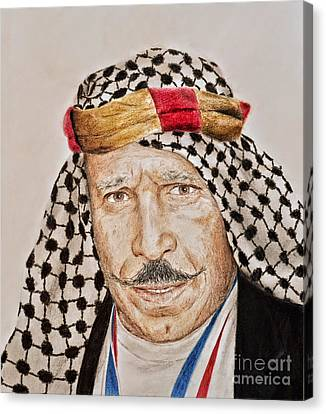 Portrait Of The Pro Wrestler Known As The Iron Sheik Canvas Print by Jim Fitzpatrick