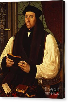 Portrait Of Thomas Cranmer Canvas Print by Gerlach Flicke