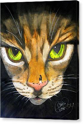 Portrait Of Tigger Canvas Print by Chris Crowley