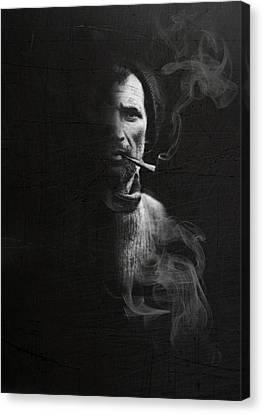 Portrait Of Tom Crean Antarctic Explorer Canvas Print