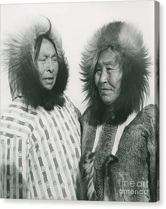 Portrait Of Two Indigenous Women Canvas Print by Celestial Images
