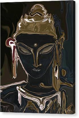 Canvas Print featuring the digital art Portrait Of Vajrasattva by Rabi Khan