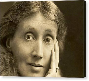 Bipolar Canvas Print - Portrait Of Virginia Woolf, 1927 by English School